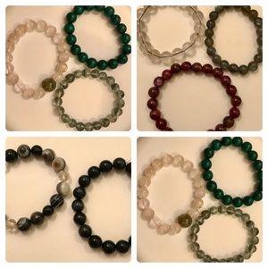 Jewelry - Genuine gemstone stretch bracelets